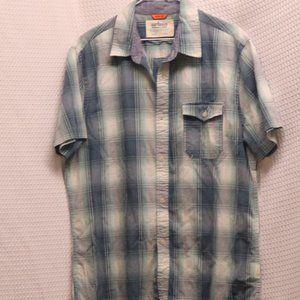 Urban Pipeline Turquoise and Aqua Plaid Shirt #084
